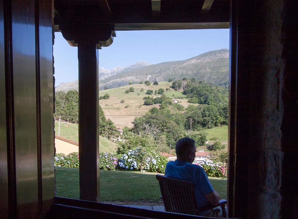 Vistas desde la puerta principal de la casa